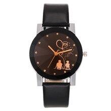 цена на Hot Selling Doll Toy COUPLE'S Pattern Leather Belt Watch Fashion Romantic COUPLE'S Starry Quartz Watch