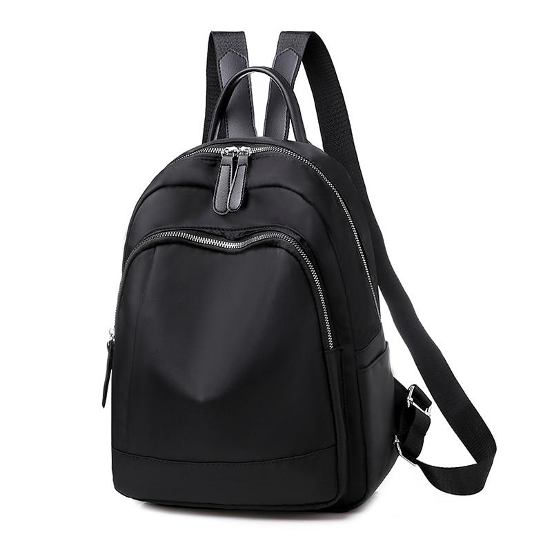Women Backpack Casual Rucksack Oxford School Shoulder Bag Waterproof Backpacks For Teenage Girls Black Student Back Pack Travel