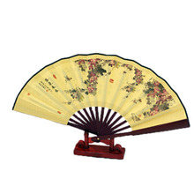 Chinese Classical Folding Fan Automotive Decoration Bamboo