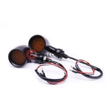 Retro Izgara Motosiklet LED Dönüş Sinyalleri Fren Koşu Kuyruk Lambası
