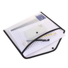 File folder A4 storage bag transparent pocket PP file bag originality folder school office stationery support zipper bag pvc bag