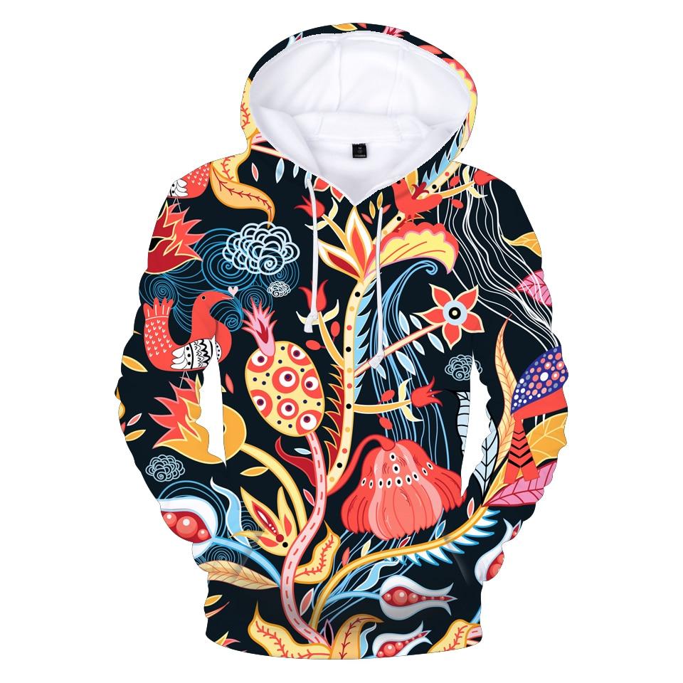 Толстовка с капюшоном и 3D-принтом для мужчин и женщин, свитшоты, худи с длинным рукавом и красивым цветочным принтом, весна-осень,
