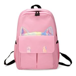 Image 3 - New Kids Backpack Girls Boy Children Teenagers Student School Backpacks For Girl Cute Cat Ear Backpack Schoolbag Cartable Enfant