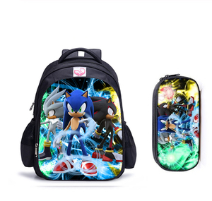 Image 1 - 16 Inch Mario Sonic Boom Hedgehogs Children School Bags Orthopedic Backpack Kids School Boys Mochila Infantil Catoon Bags