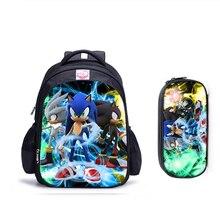 Sacs décole pour enfants, sac à dos orthopédique pour garçons, sacs décole Mochila pour enfants catons, Mario Sonic Boom, 16 pouces