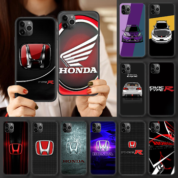 Honda car H logo Phone case For iphone 4 4s 5 5S SE 5C 6 6S 7 8 plus X XS XR 11 12 mini Pro Max 2020 black cell cover fashion image