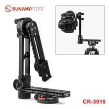 SUNWAYFOTO CR 3015 720 degree Panoramic Tripod Head Quick Release Plate Rail Slider L Bracket plate for DSLR Camera Canon sony