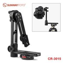 SUNWAYFOTO CR 3015 tête de trépied panoramique à 720 degrés plaque de fixation rapide Rail curseur L plaque de support pour appareil photo reflex numérique Canon sony