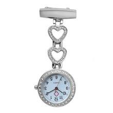 Moda feminina bolso relógio clip-on coração/estrela de cinco pontas pingente pendurar relógio de quartzo para médico enfermeira relógios nin668