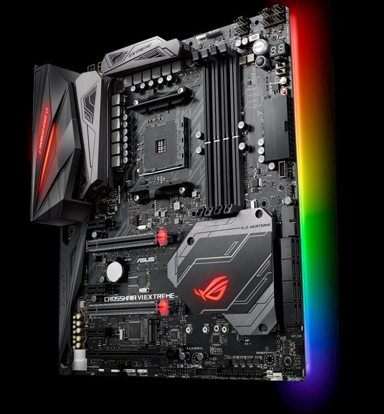 Asus ROG CROSSHAIR VI EXTREME X370 game board game player country C6E used motherboard title=