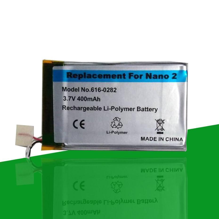 Full new 616-0283 616-0287 400mAh Battery For Apple iPod Nano 2nd Generation 2 Gen 4GB A1199 Nano2 Accumulator AKKU(China)