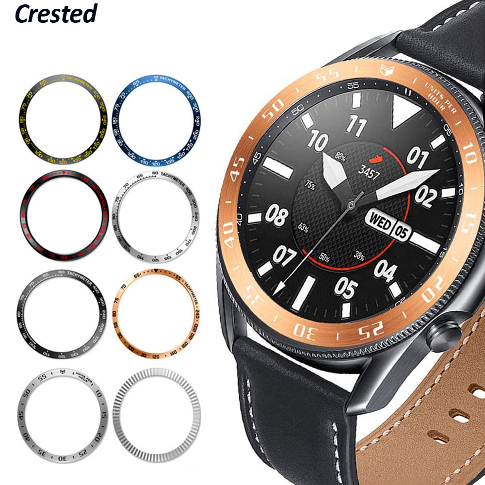 Bezel ring For Samsung Galaxy Watch 3 45mm 41mm/46mm/42mm/Gear S3 Frontier Accessorie sport Anti-fall metal Protector cover Case