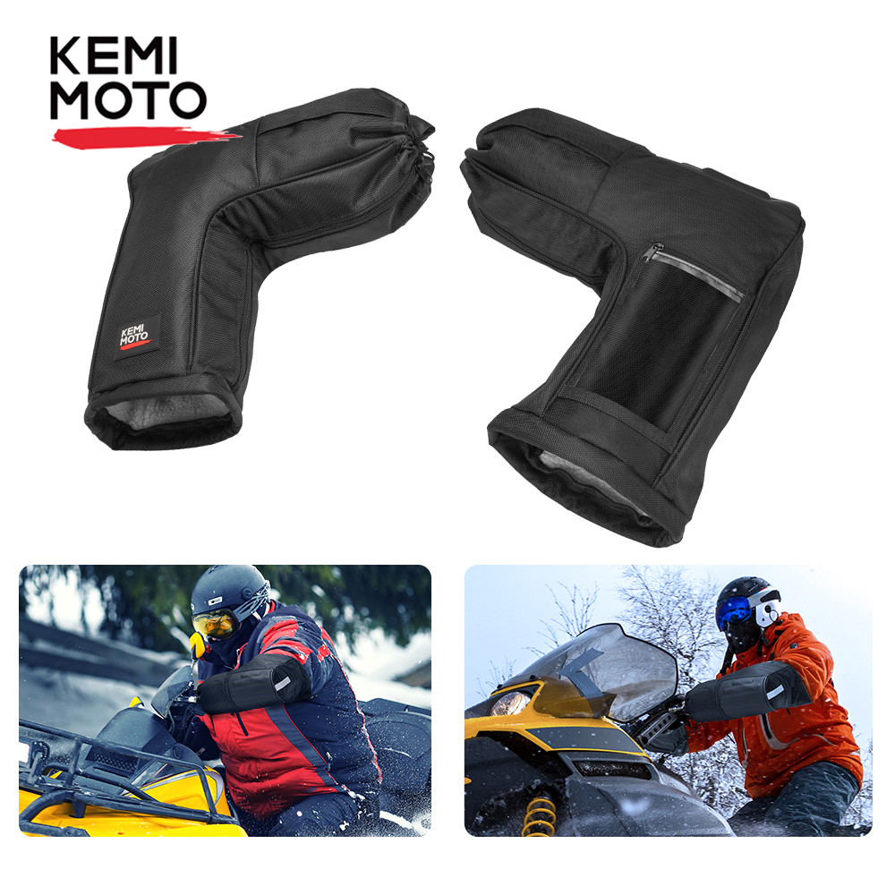 ATV Motorcycle Handlebar Mitts Gloves Grip for Yamaha Touring Adventure Scooter Snowmobile Watercraft Bike for Polaris