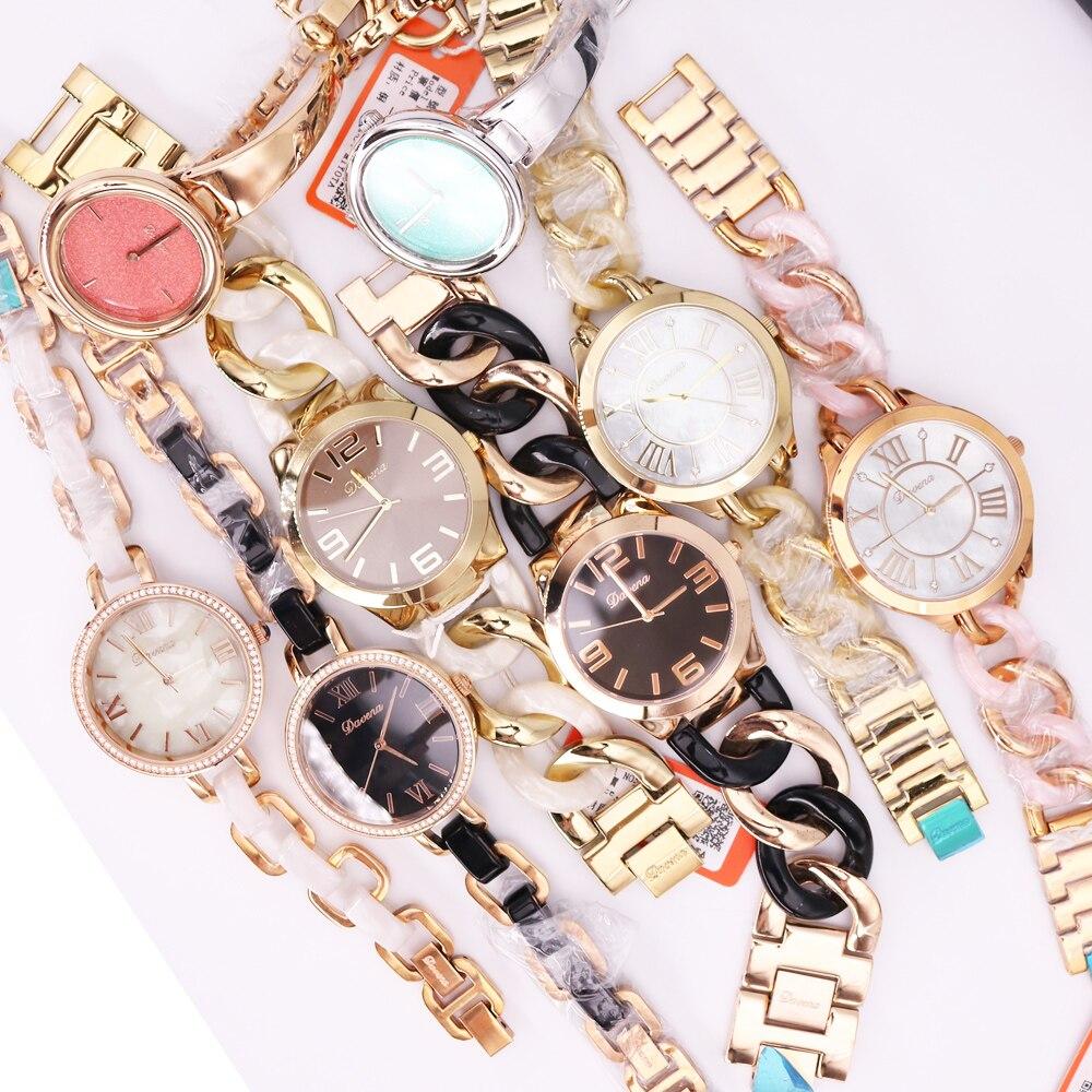 SALE!!! Discount Davena Melissa Crystal Rhinestones Lady Men's Women's Watch Japan Mov't Hours Metal Bracelet Girl's Gift