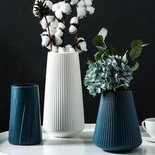 Morandi plastik vazo oturma odası dekorasyon süsler, Modern Origami plastik vazolar çiçek aranjmanları için ev dekorasyon