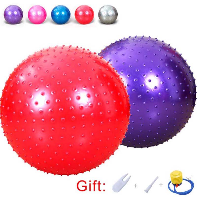 Fitness Massage Point Yoga Ball Anti-Burst Gym Exercise Pilates Balance Fitball Children Adult Home Exercise Equipment Balls