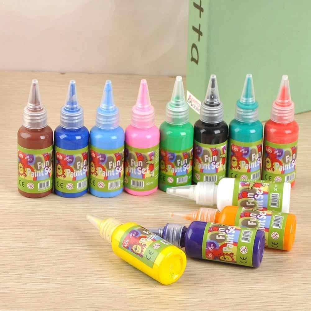 12 Couleur 30ml Aquarelle Peinture Maternelle Enfants Bricolage Pour Enfant Cadeau Art Fournitures Peinture Peinture Lavage Doigt F8r7 Aliexpress