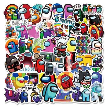 10 30 50 100PCS wśród nas Hot Game naklejki Graffiti na laptopa Notebook Skateboard Computer bagaż kalkomania tanie i dobre opinie CHUMLIN CN (pochodzenie) waterproof pvc 10g-60g BTZ00061B NONE