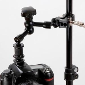 Image 4 - 11 인치 조정 가능한 굴절 식 매직 암 및 클램프 모니터 용 관절 암 사진 카메라 용 LCD 비디오 용 LED 라이트