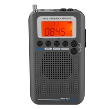 Portable Aircraft Radio Receiver,Full Band Receiver - AIR/FM/AM/CB/SW/VHF,LCD Display With Backlight,Chip Has A Powerful M