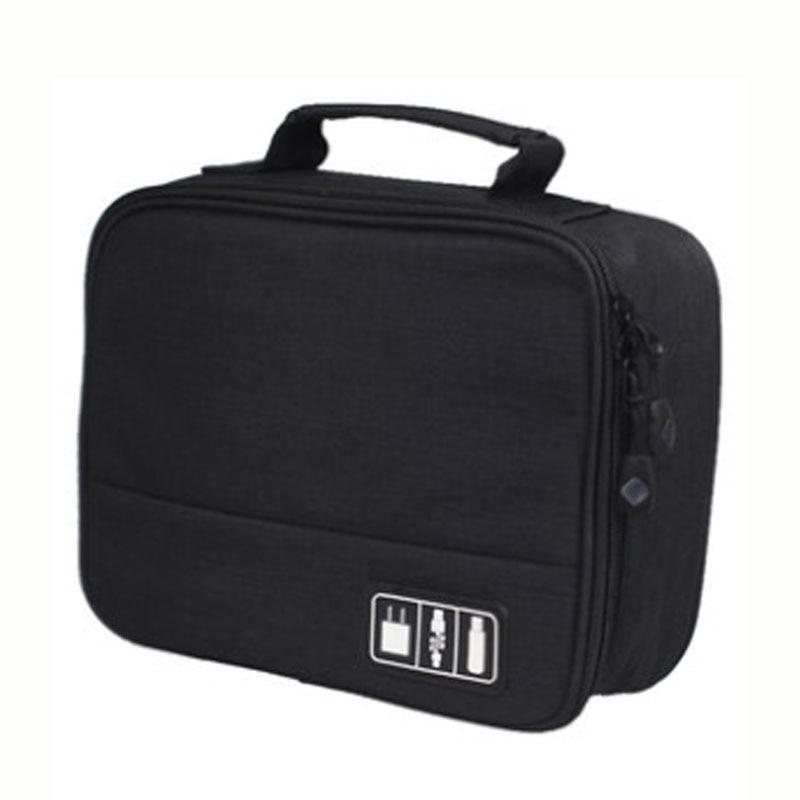 Travel Closet Organizer Case for Vnetphone V4C V6C Referee Intercom Headphones Storage Bag Zipper Accessories Data Cable USB Bag