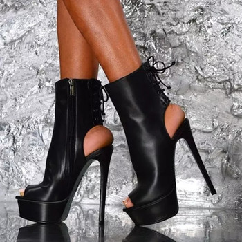 LanLoJer Sexy High Heels Party Pumps Women Shoes High Heel Platform Wedding Slingbacks14.5 cm High-heeled Shoes,Peep Toe Pumps