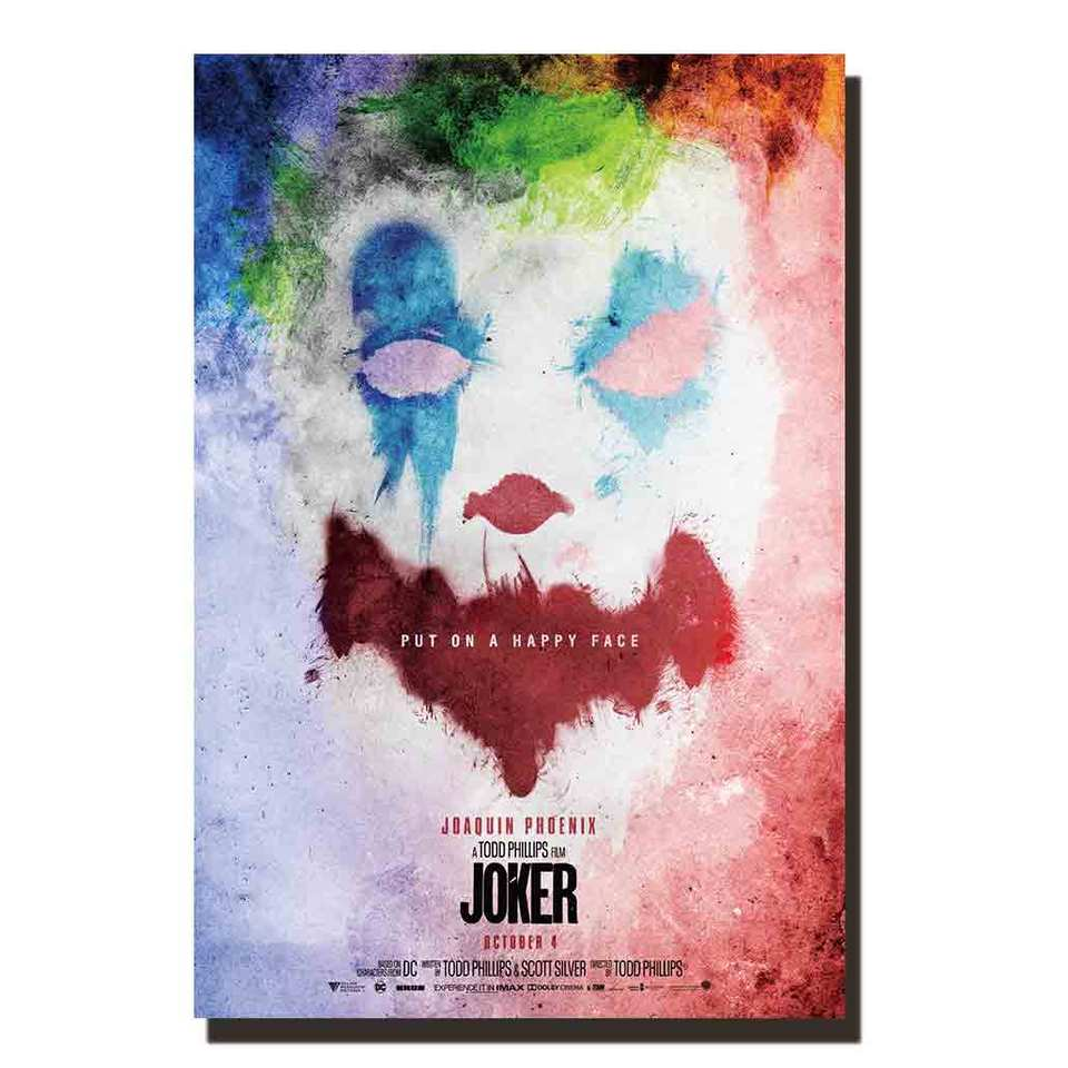 N843 Joker Movie Put On A Happy Face Art Poster Silk Print