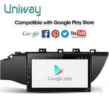 uniway A17K21071 2G+32G 4 core android 9.0 car dvd for kia k2 rio 2016 2017 multimedia car radio gps navigation stereo player(China)