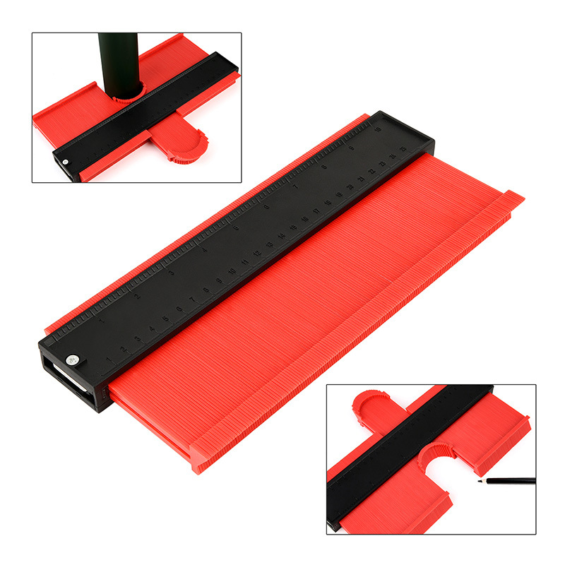 5 10 Inch Contour Gauge Profile Gauge Tiling Laminate Tiles Edge Shaping Wood Measure Ruler ABS Contour Gauge Duplicator