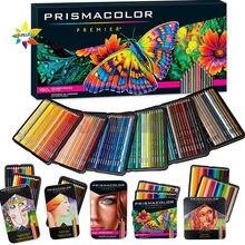 Lapis prismacolor premier original frete grátis caixa de arte conjunto de cor com 12 24 36 48 72 132 150 núcleos caixa de estanho