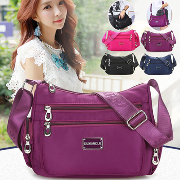 Women Handbag Multi-Functional Bag Women's Shoulder Bag High Quality Durable Waterproof Nylon Crossbody Messenger Bag Female candy color waterproof nylon messenger bag solid contracted joker shoulder bag high quality pink crossbody bag hobos for women
