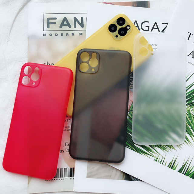 Ultra Thin Matte Transparent PP Phone cases For iPhone 6 6S 7 8 Plus XR X XS 11 Pro Max Case Cover Luxury 0.3mm Phone Bag