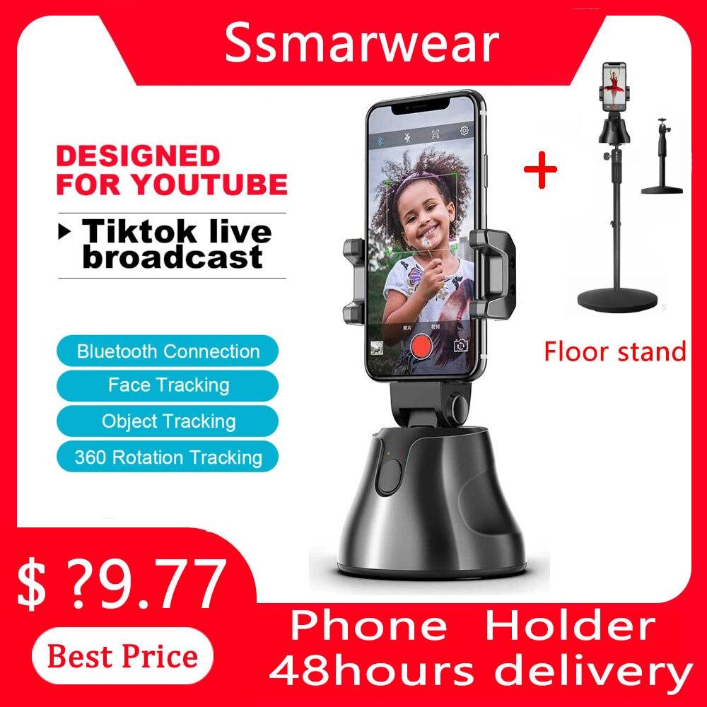 360 ° Smart Gimbal Gesicht Tracking Kamera Stativ Auto Folgenden Selfie  Roboter Kameramann unterstützung Ios & Android Telefon für Vlog  live Handheld Gimbal