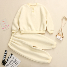 Spring Autumn Simple Design Teenage Girls Boys Outfits Solid Loose Sets Customized Plus Sizes Wholesale MQ-TZ2012005