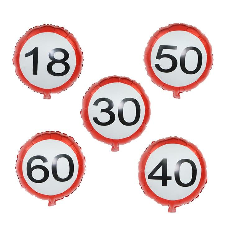 Фольгированные воздушные шары с номером 18, 30, 40, 50, 60 дней годовщины, товары для свадьбы, юбилея, дня рождения, 1 шт.