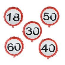 Ballons à hélium pour anniversaire, 1 pièce, numéro 18 30 40 50 60e, à Air, pour mariage, fournitures de fête