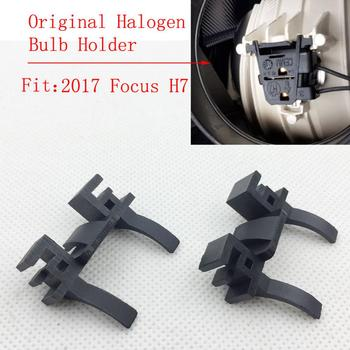 New 2Pcs Car H7 LED Headlight Bulb Holder Base Adapter For Ford Focus Low Beam Headlamp Mount For Land Rover Discovery FIAT 500 image