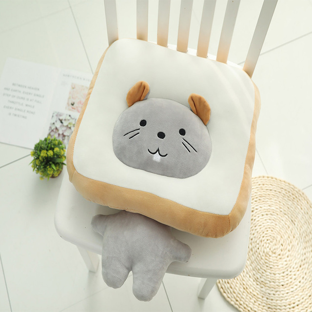50CM Extra Large Multifunctional Toast Cat Plush Toy Pillow Cute Bread Stuffed Toy Pillow Cushion Cute Sofa Mat