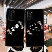 Caso de telefone para huawei p4 p10 p30 p20 lite p smart z pro preto capa funda tendência hoesjes luxo etui