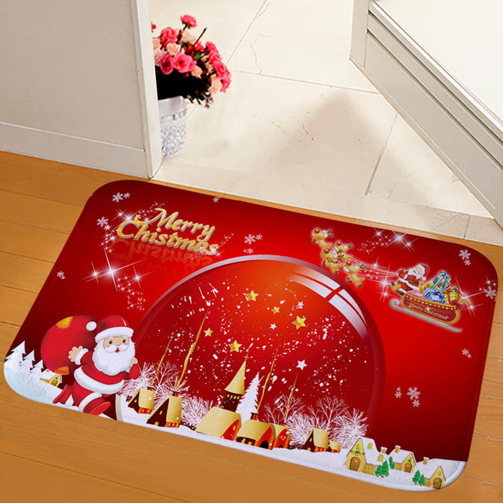 Anti Fade Bedroom Carpet Floor Mat Bathroom Dining Room Printing Water Absorb Soft Non Slip Wear Resistant Christmas Rug Home