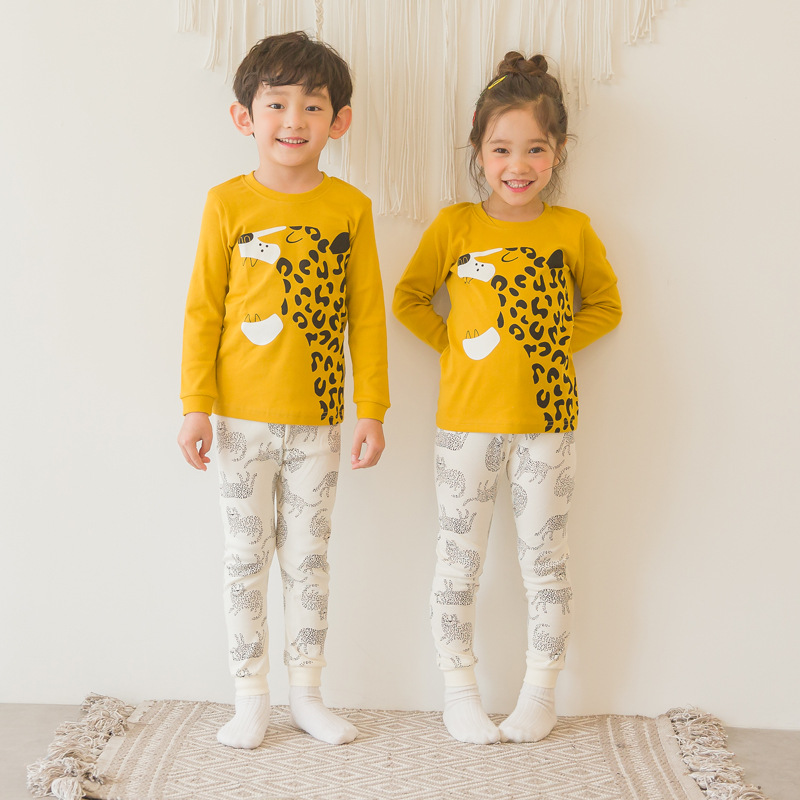 South Korea Childrenswear Genuine Product Men And Women Children Puco2019 Autumn And Winter New Style Organic Cotton Tracksuit U