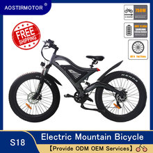 "AOSTIRMOTOR Electric Mountain Bike Fat Tire Electric Bicycle Beach Cruiser Bike Snow Bike 750W E-Bike 48V 11 6Ah Lithium Battery cheap 500w 26"" 30-50km h Brushless Aluminum Alloy 31 - 60 km One Seat Standard Type With City type SR Outer 7 speed SHIMANO"