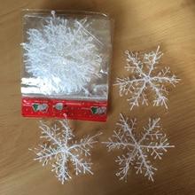 30 шт., искусственные рождественские снежинки, 11 см