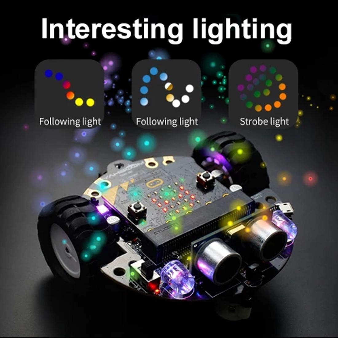 DIY умный программируемый робот автомобиль, Обучающий набор с материнской платой или без, для микро: бит