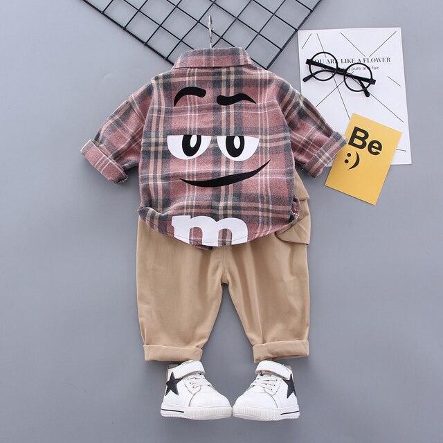 Boy Plaid Khaki Suit 3