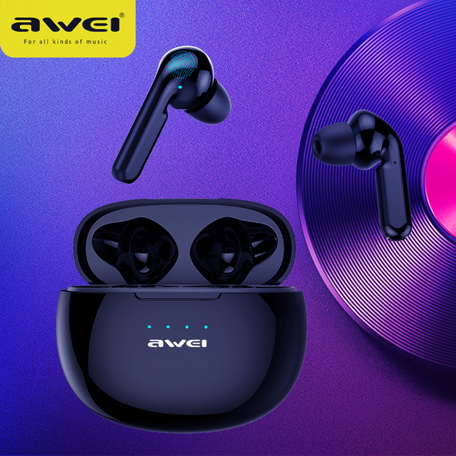 AWEI T15 TWS Bluetooth Earphones Mini In ear Sports headset For phone iPhone 7 x Xiaomi Huawei and others 1