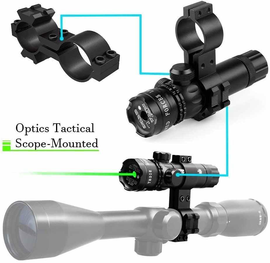 Taktis Laser Pointer Sight Berburu Hijau Merah Dot Senapan Gunung Compact Scope Airsoft Olahraga Rail Laras Tekanan Switch Gunung