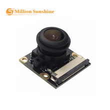 For Raspberry Pi 4 Model B/3B+/3B/2B Night Vision Fisheye Camera 5MP OV5647 130 Degree Focal Adjustable RPI108