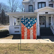 USA Garden Flag America Independence Day Double-Sided Patriotic Strip And Star House Decoration