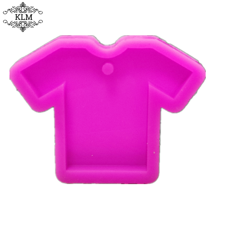 Shiny short-sleeved DIY silicone keychain mold for women's accessories, pendants, mobile phone ornaments and other tools KLM